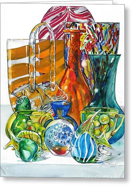 Layers Of Glass Greeting Card
