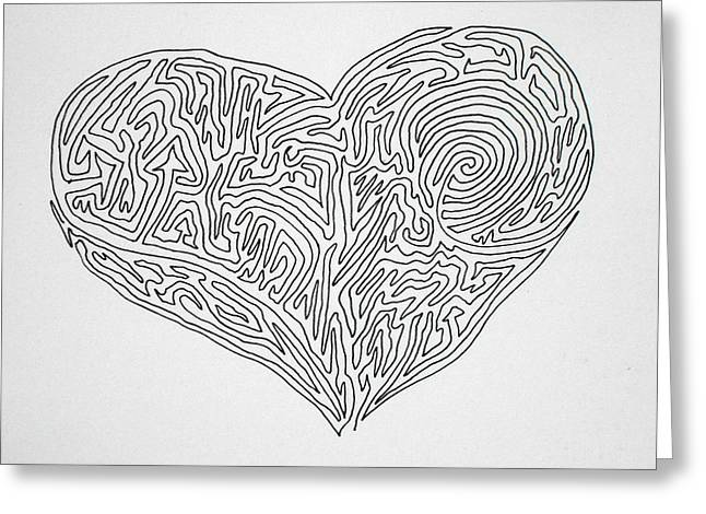 Laying Your Heart On A Line  Greeting Card