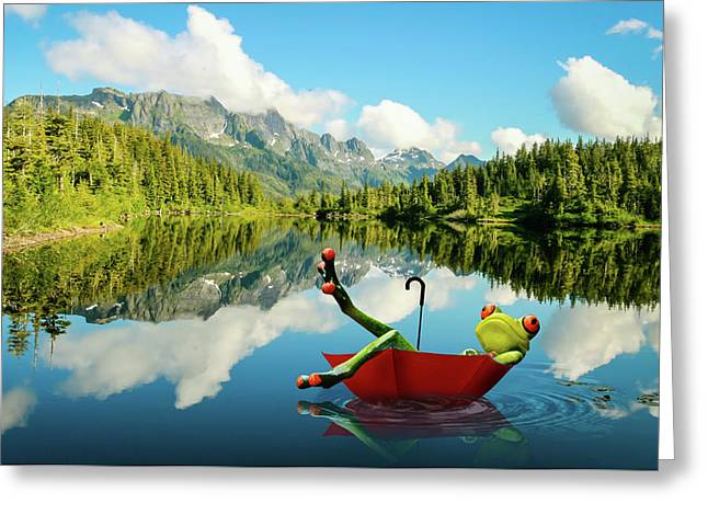 Greeting Card featuring the digital art Lazy Days by Nathan Wright