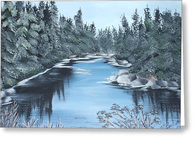 Lazy River Greeting Card by Bev  Neely