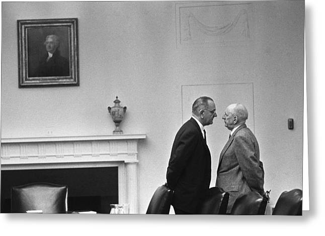 Lbj Giving The Treatment Greeting Card
