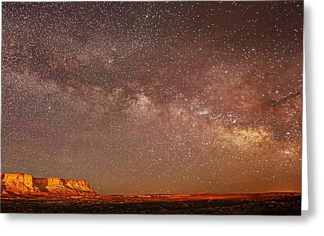 Lchee Rock Milky Way Panorama Greeting Card