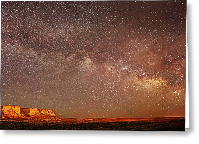 Lchee Rock Milky Way Panorama Greeting Card