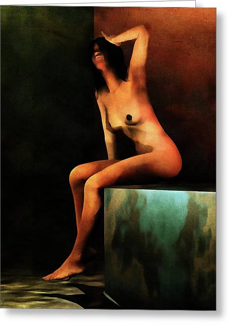 Greeting Card featuring the painting Le Bain Du Matin by Jan Keteleer