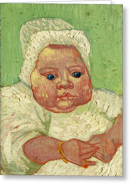 Le Bebe Marcelle Roulin Greeting Card by Vincent van Gogh