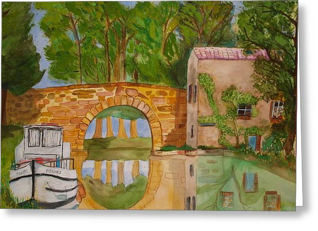 Le Canal Du Midi Greeting Card by Aline Kala