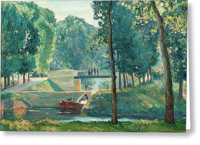 Le Canal Du Midi Greeting Card by Gustave   Albert