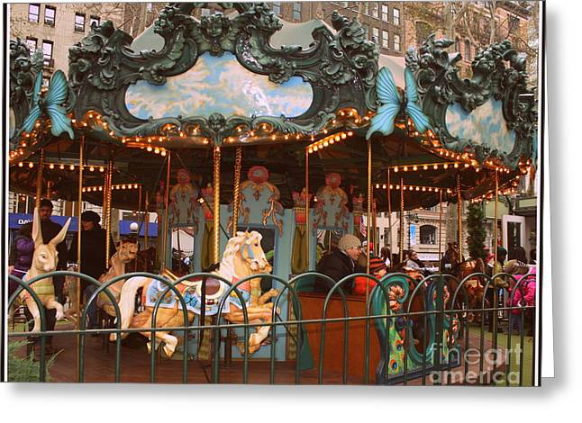 Le Carrousel In Bryant Park, New York City Greeting Card