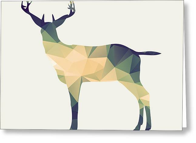 Le Cerf Greeting Card by Taylan Apukovska