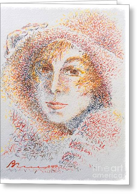 Le Chapeaux  Greeting Card by Barbara Chase