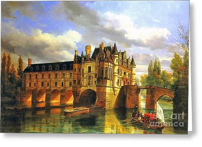 Le Chateau De Chenonceau Greeting Card
