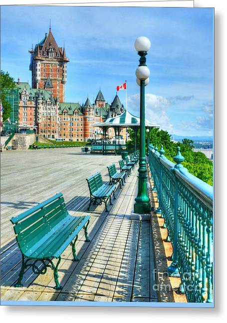 Le Chateau Frontenac 2 Greeting Card by Mel Steinhauer