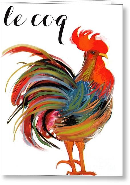Le Coq Art Nouveau Rooster Greeting Card
