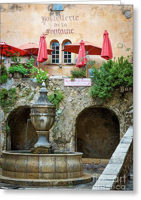 Le Grande Fontaine Greeting Card by Brian Jannsen