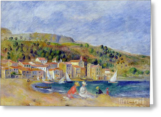 Best Sellers -  - On The Beach Greeting Cards - Le Lavandou Greeting Card by Pierre Auguste Renoir