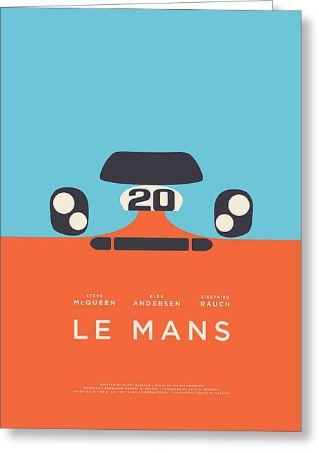 Le Mans Movie - B Greeting Card by Ivan Krpan