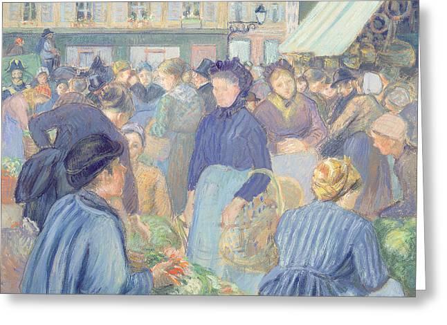 Le Marche De Gisors Greeting Card by Camille Pissarro