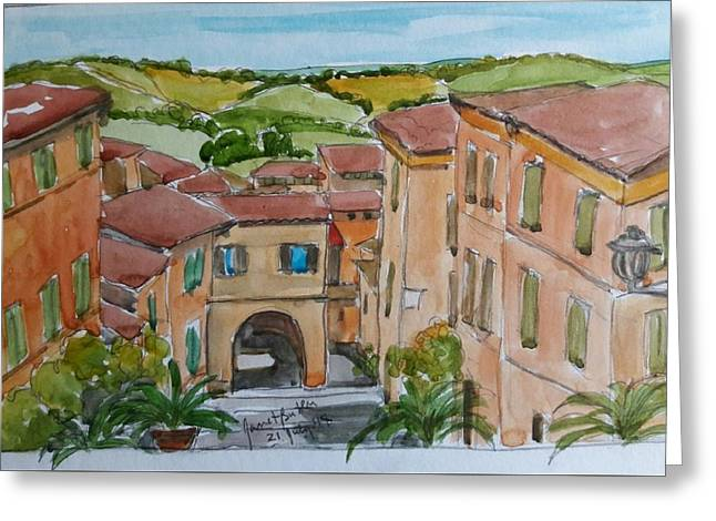 Le Marche, Italy Greeting Card by Janet Butler