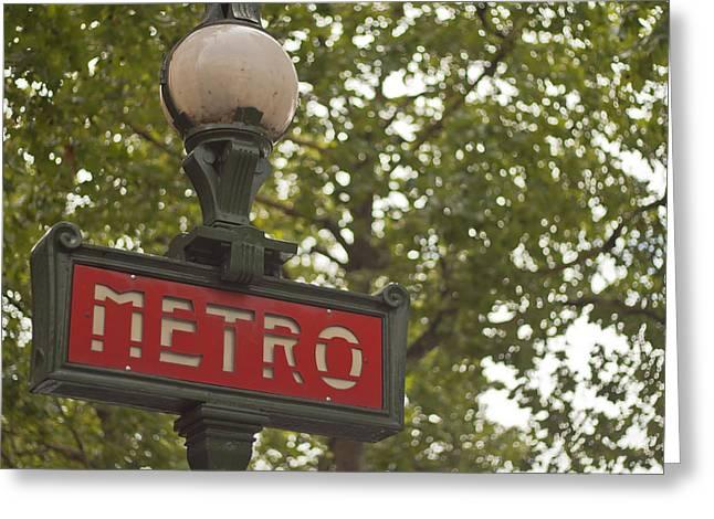 Le Metro Greeting Card by Georgia Fowler