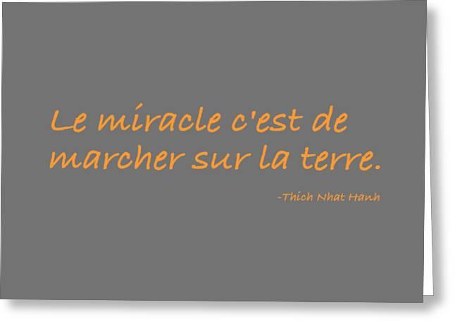 Le Miracle Greeting Card by Julie Niemela