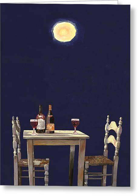 Le Ombre Della Luna Greeting Card by Guido Borelli