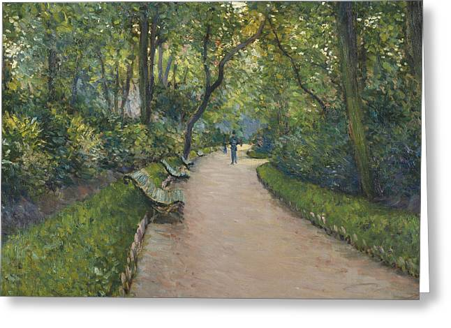 Le Parc Monceau Greeting Card by Gustave Caillebotte