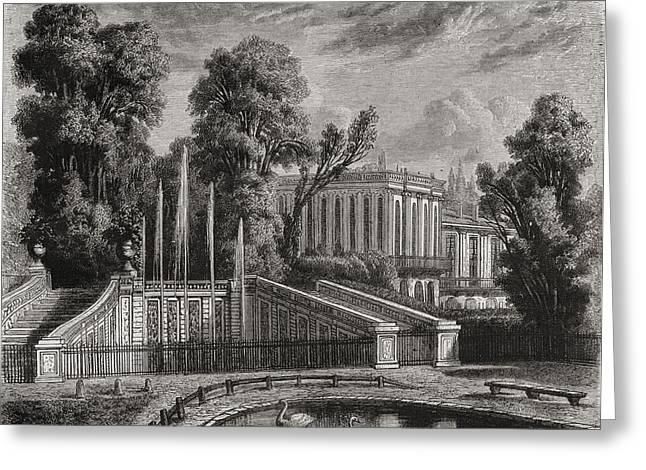 Le Petit Trianon At Versailles Greeting Card by Vintage Design Pics