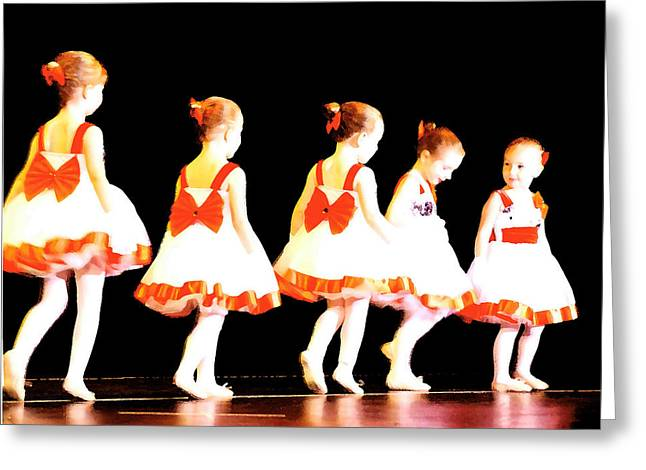 Le Petite Ballet Greeting Card by Margie Avellino