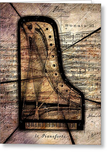 Le Pianoforte Variation II Greeting Card