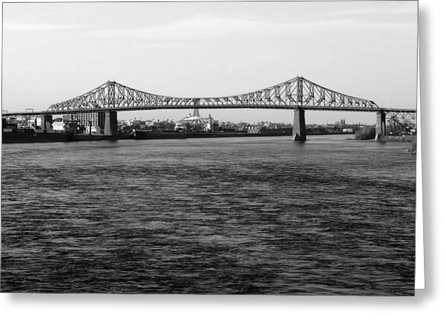 Le Pont Jacques Cartier Greeting Card by Robert Knight