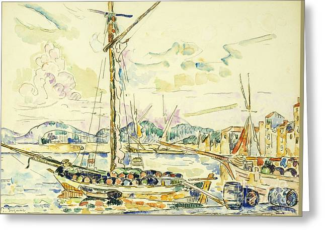 Le Port De Saint Tropez Greeting Card