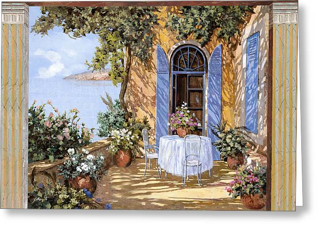 Le Porte Blu Greeting Card by Guido Borelli