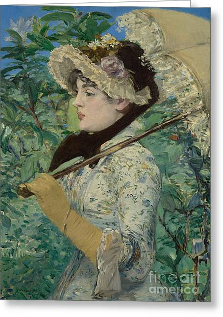 Le Printemps Greeting Card by Edouard Manet