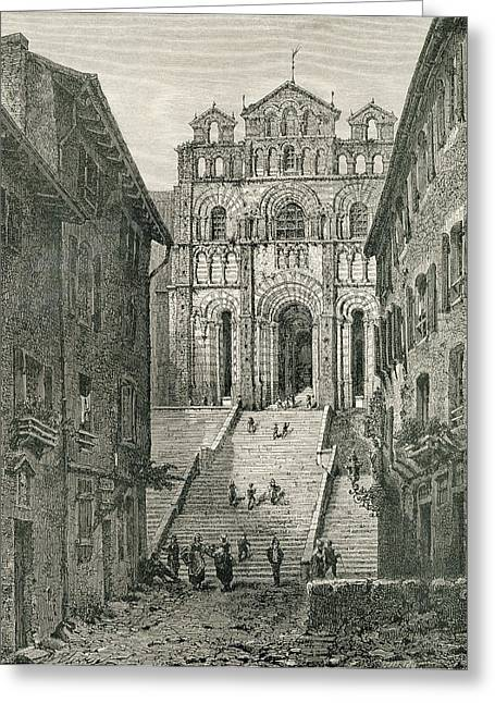 Le Puy Cathedral, Le Puy-en-velay Greeting Card