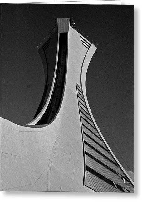 Olympic Games Greeting Cards - Le Stade Olympique de Montreal Greeting Card by Juergen Weiss