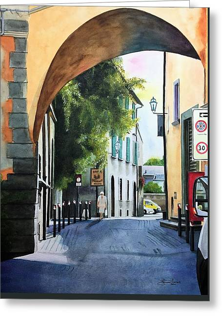 Le Strade Di Orvieto Greeting Card by Janine Ferranti