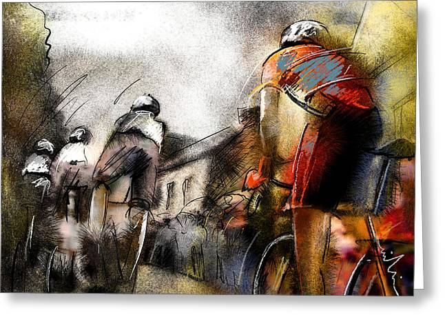 Le Tour De France 06 Greeting Card by Miki De Goodaboom