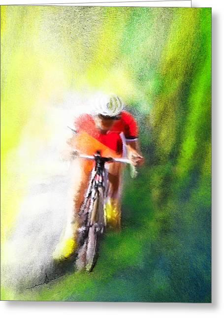 Le Tour De France 12 Greeting Card by Miki De Goodaboom
