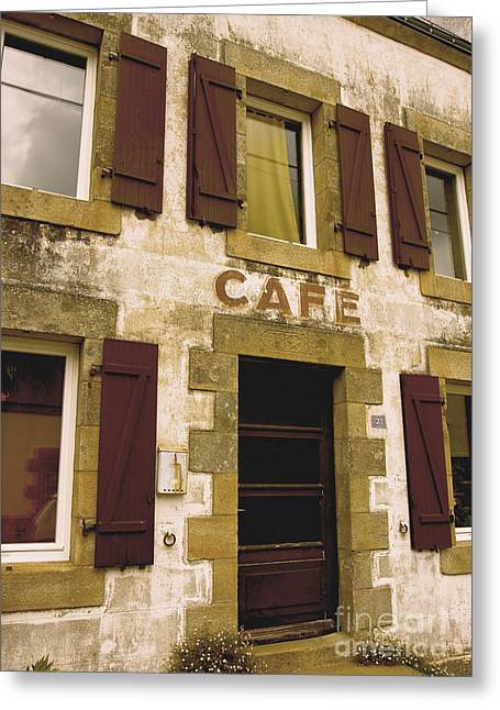 Le Vieux Cafe    The Old Cafe Bar Greeting Card by Mark Hendrickson