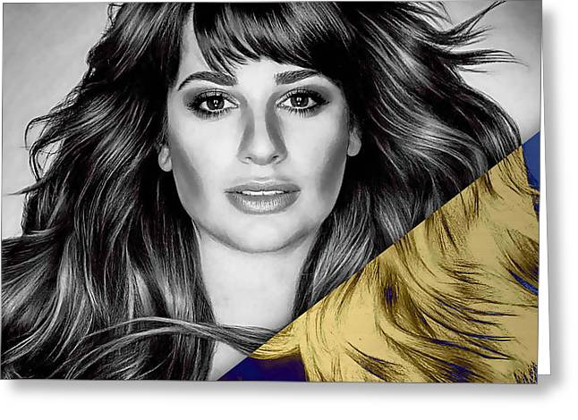 Lea Michele Collection Greeting Card by Marvin Blaine