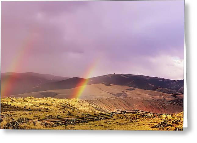 Lead Me To Two Pots Of Gold Greeting Card by Kay Brewer