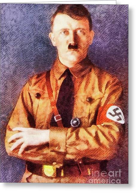 Leaders Of Wwii, Adolf Hitler, Germany Greeting Card