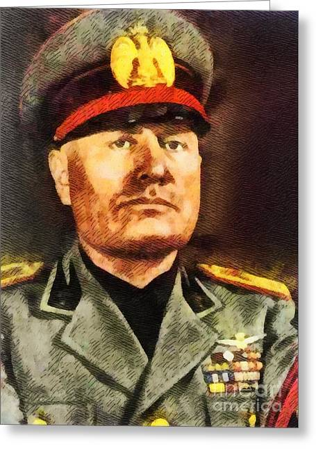 Leaders Of Wwii - Benito Mussolini Greeting Card