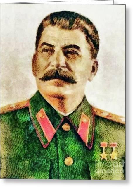 Leaders Of Wwii - Joseph Stalin Greeting Card