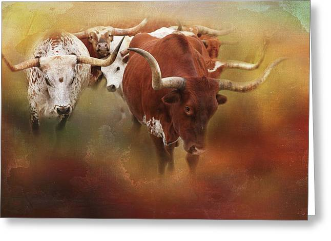 Leading The Herd Greeting Card by Toni Hopper