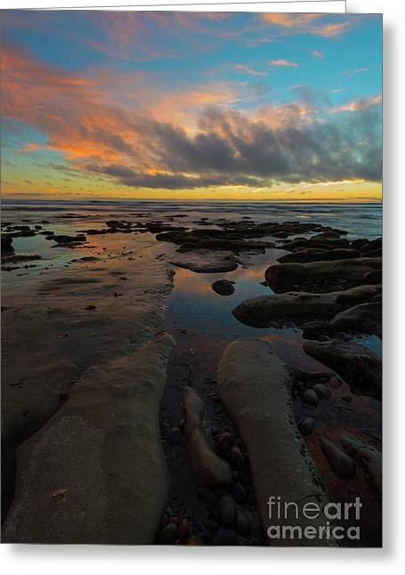 Leading To The Sea Greeting Card by Mike Dawson