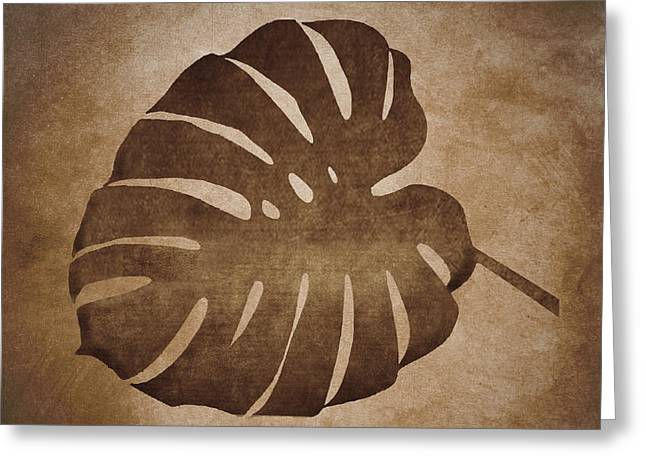 Leaf Abstract  Greeting Card by Art Spectrum