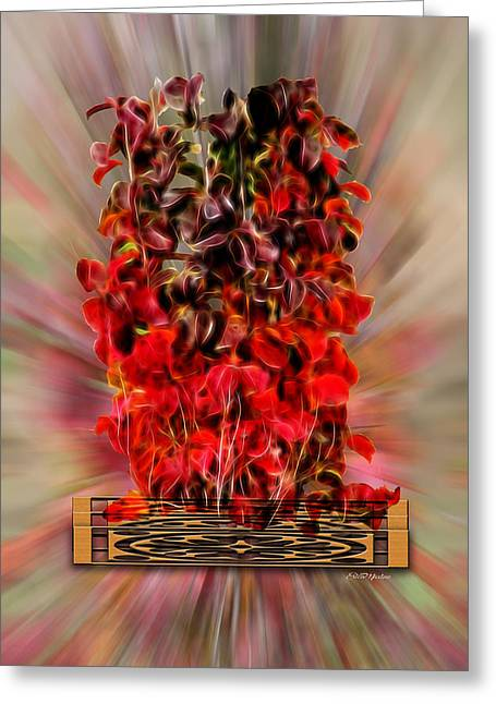 Leaf Explosion Greeting Card by Ericamaxine Price