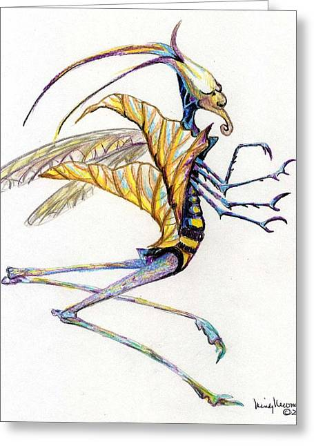 Leaf Hopper Greeting Card