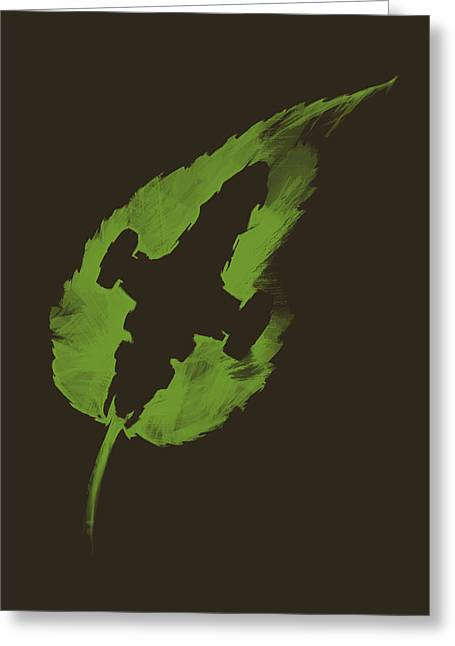 Leaf On The Wind Greeting Card by Vincent Carrozza